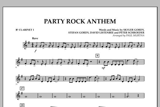 Paul Murtha Party Rock Anthem Bb Clarinet 1 Sheet Music Pdf Notes Chords Pop Score Concert Band Download Printable Sku 306773