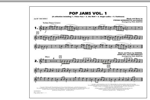 Paul Murtha Pop Jams: Vol. 1 - 2nd Bb Trumpet sheet music notes and chords