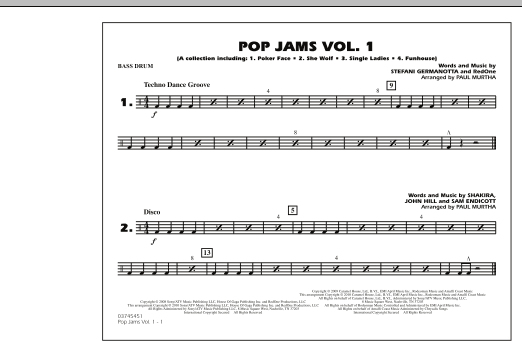 Paul Murtha Pop Jams: Vol. 1 - Bass Drum sheet music notes and chords