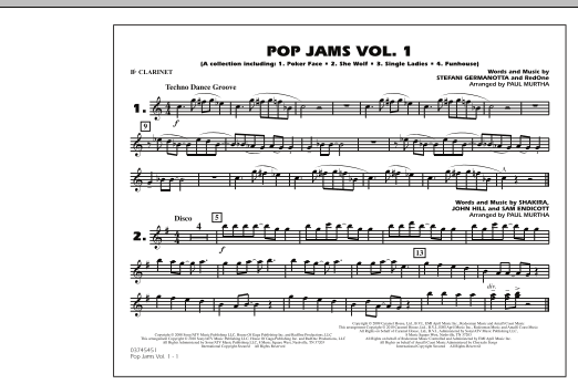 Paul Murtha Pop Jams: Vol. 1 - Bb Clarinet sheet music notes and chords. Download Printable PDF.