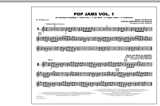 Paul Murtha Pop Jams: Vol. 1 - Bb Tenor Sax sheet music notes and chords