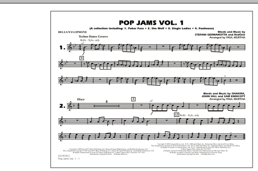 Paul Murtha Pop Jams: Vol. 1 - Bells/Xylophone sheet music notes and chords