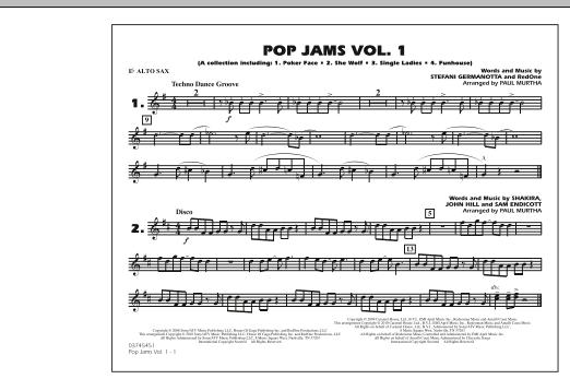 Paul Murtha Pop Jams: Vol. 1 - Eb Alto Sax sheet music notes and chords