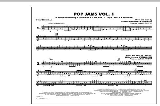 Paul Murtha Pop Jams: Vol. 1 - Eb Baritone Sax sheet music notes and chords
