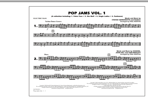 Paul Murtha Pop Jams: Vol. 1 - Electric Bass sheet music notes and chords