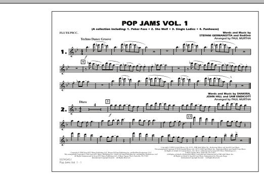 Paul Murtha Pop Jams: Vol. 1 - Flute/Piccolo sheet music notes and chords