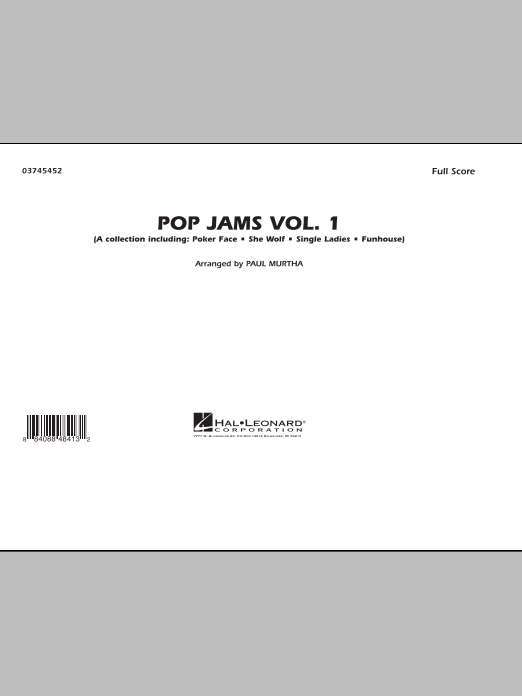 Paul Murtha Pop Jams: Vol. 1 - Full Score sheet music notes and chords