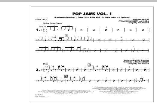 Paul Murtha Pop Jams: Vol. 1 - Snare Drum sheet music notes and chords