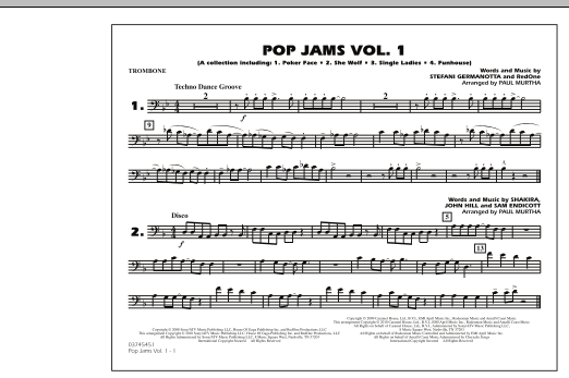 Paul Murtha Pop Jams: Vol. 1 - Trombone sheet music notes and chords