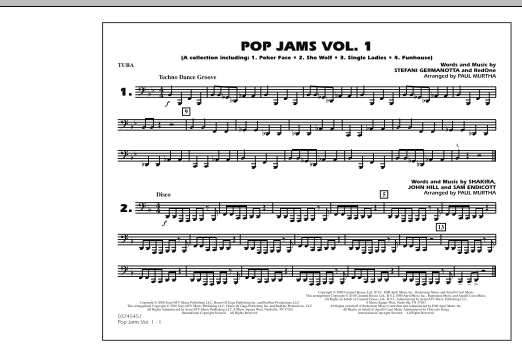 Paul Murtha Pop Jams: Vol. 1 - Tuba sheet music notes and chords