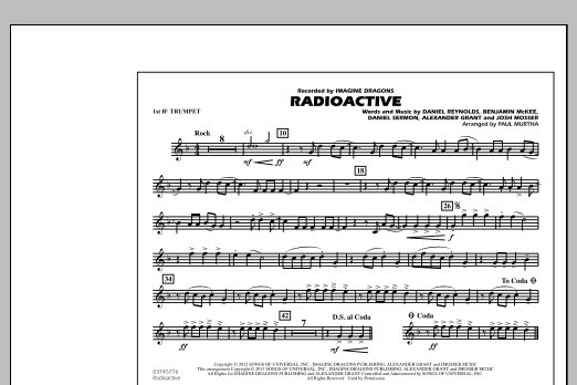 Paul Murtha Radioactive - 1st Bb Trumpet sheet music notes and chords. Download Printable PDF.