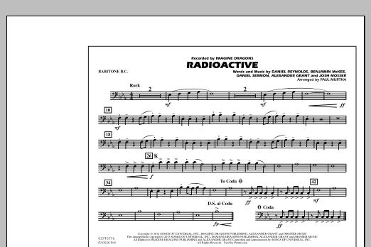 Paul Murtha Radioactive - Baritone B.C. sheet music notes and chords. Download Printable PDF.
