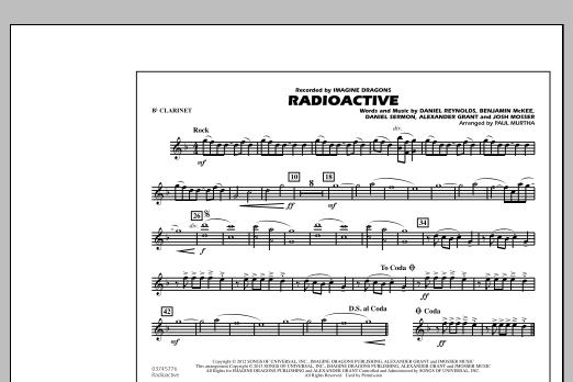 Paul Murtha Radioactive - Bb Clarinet sheet music notes and chords. Download Printable PDF.