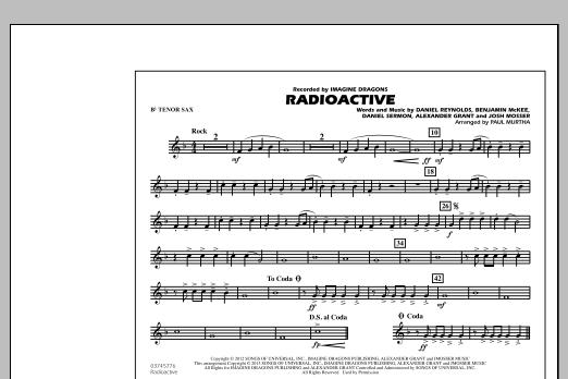 Paul Murtha Radioactive - Bb Tenor Sax sheet music notes and chords. Download Printable PDF.