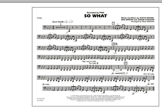 Paul Murtha So What - Tuba sheet music notes and chords