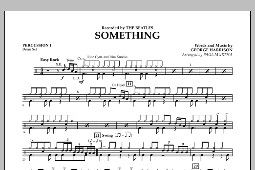 Paul Murtha Something - Percussion 1 sheet music notes and chords. Download Printable PDF.