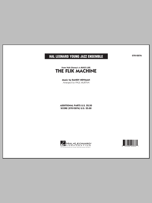 Paul Murtha The Flik Machine (from A Bug's Life) - Conductor Score (Full Score) sheet music notes and chords. Download Printable PDF.