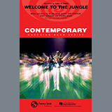 Download Paul Murtha 'Welcome To The Jungle - Bb Horn/Flugelhorn' Printable PDF 1-page score for Rock / arranged Marching Band SKU: 293409.