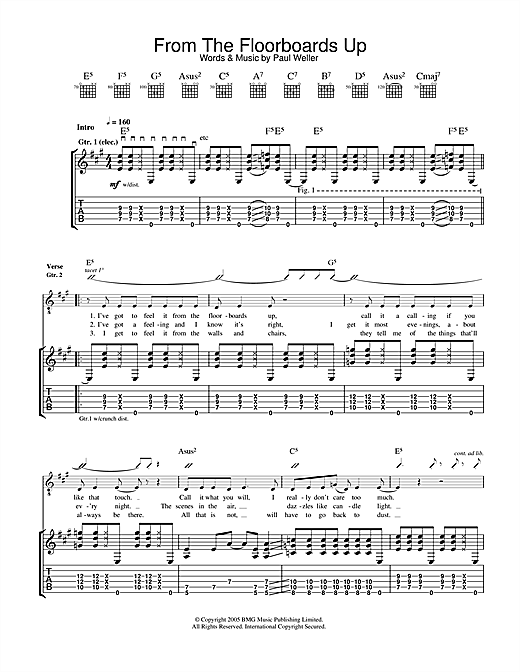 Paul Weller From The Floorboards Up sheet music notes and chords