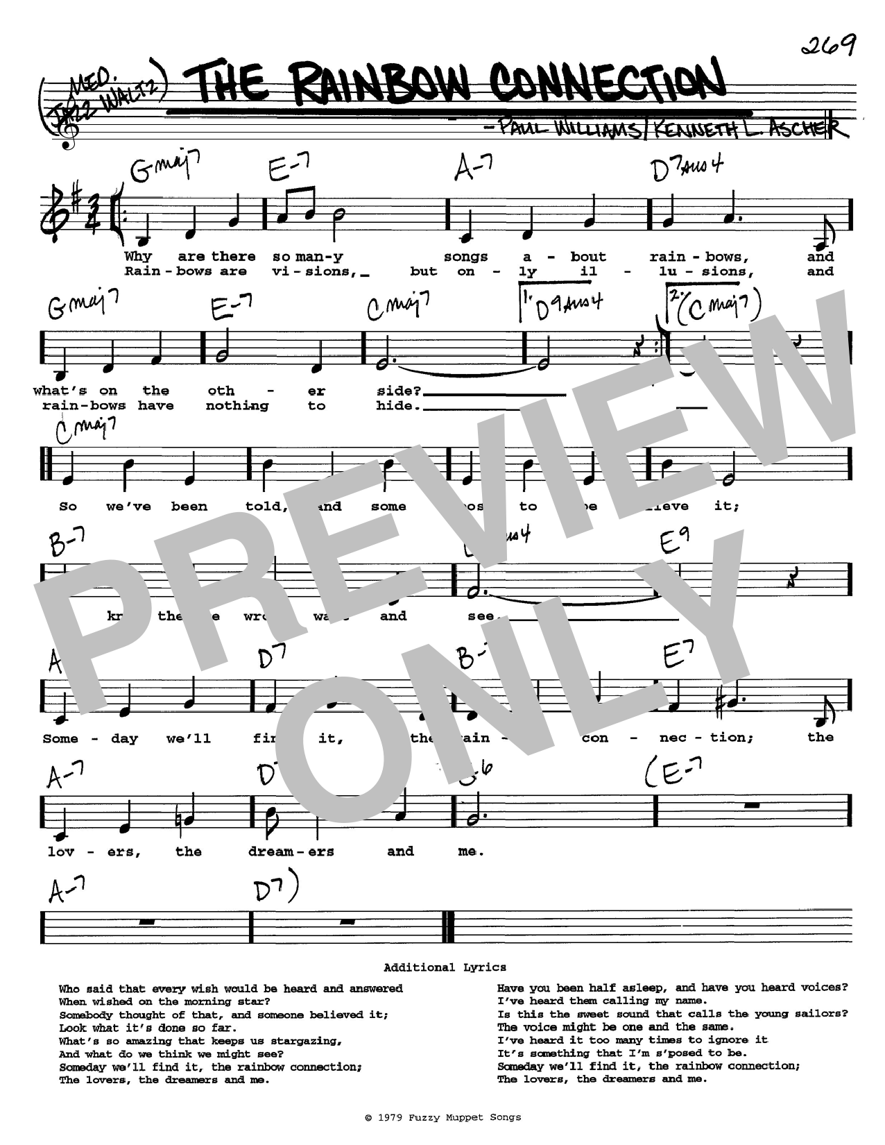Paul Williams The Rainbow Connection sheet music notes and chords. Download Printable PDF.