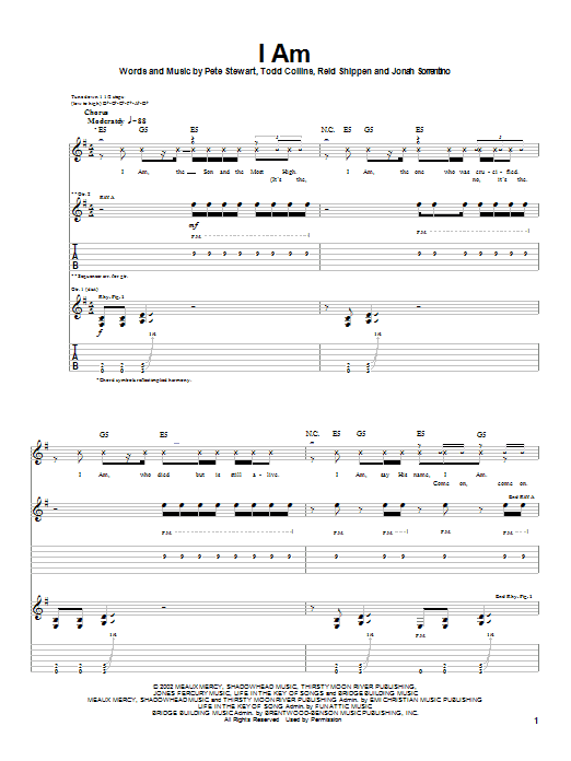 Peace Of Mind I Am sheet music notes and chords