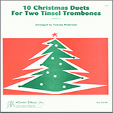 Download Pederson '10 Christmas Duets For Two Tinsel Trombones' Printable PDF 19-page score for Christmas / arranged Brass Ensemble SKU: 124822.