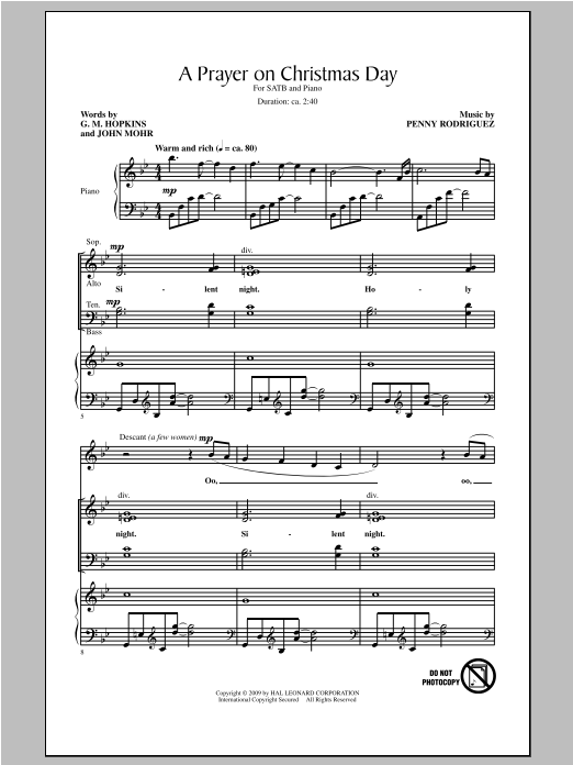 Penny Rodriguez A Prayer On Christmas Day sheet music notes and chords. Download Printable PDF.