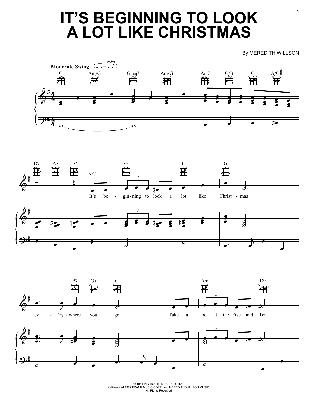 Pentatonix It's Beginning To Look Like Christmas sheet music notes and chords
