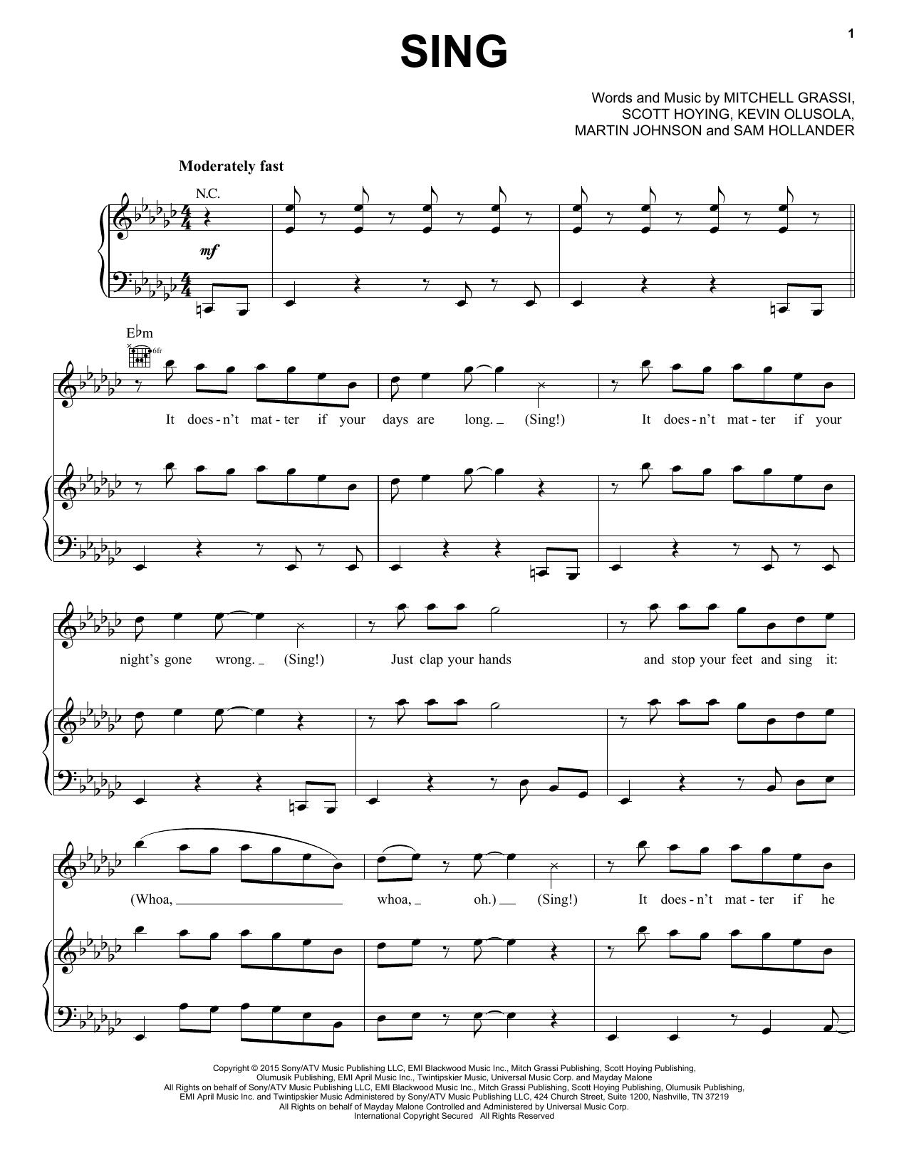 Pentatonix Sing sheet music notes and chords. Download Printable PDF.