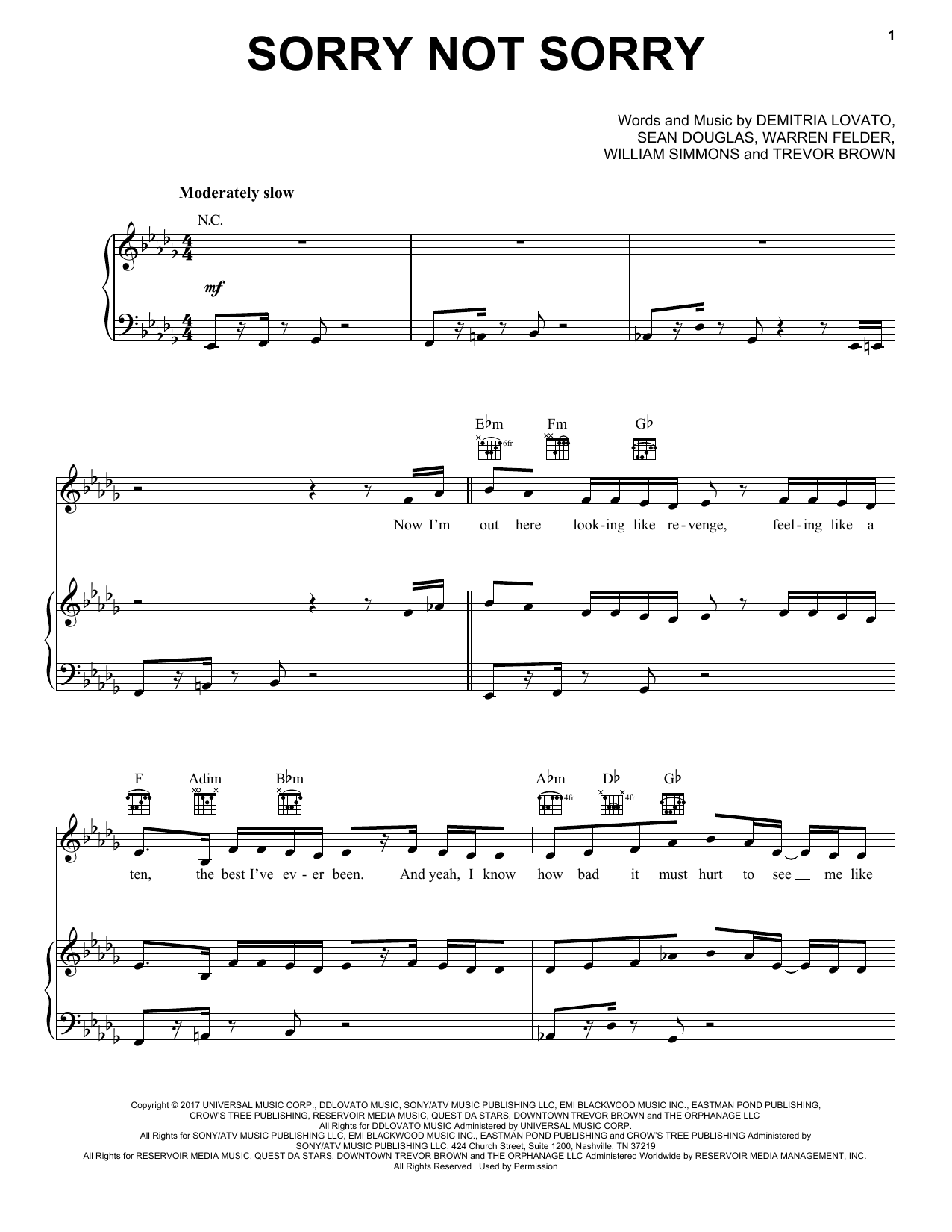 Pentatonix Sorry Not Sorry sheet music notes and chords