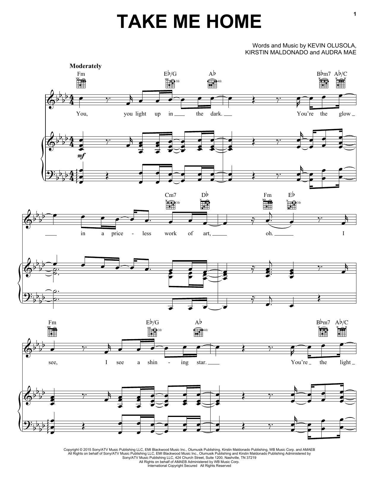 Pentatonix Take Me Home sheet music notes and chords. Download Printable PDF.