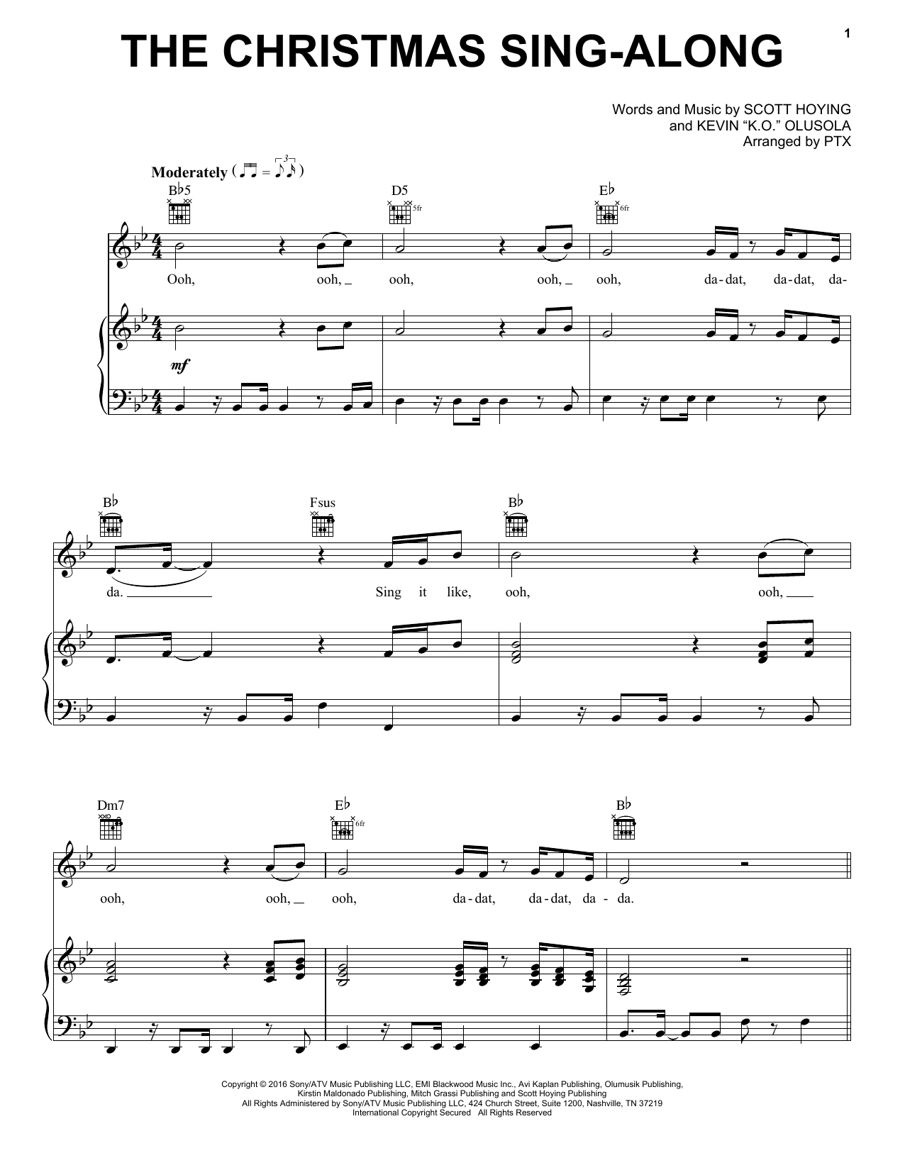 Pentatonix The Christmas Sing-Along sheet music notes and chords. Download Printable PDF.