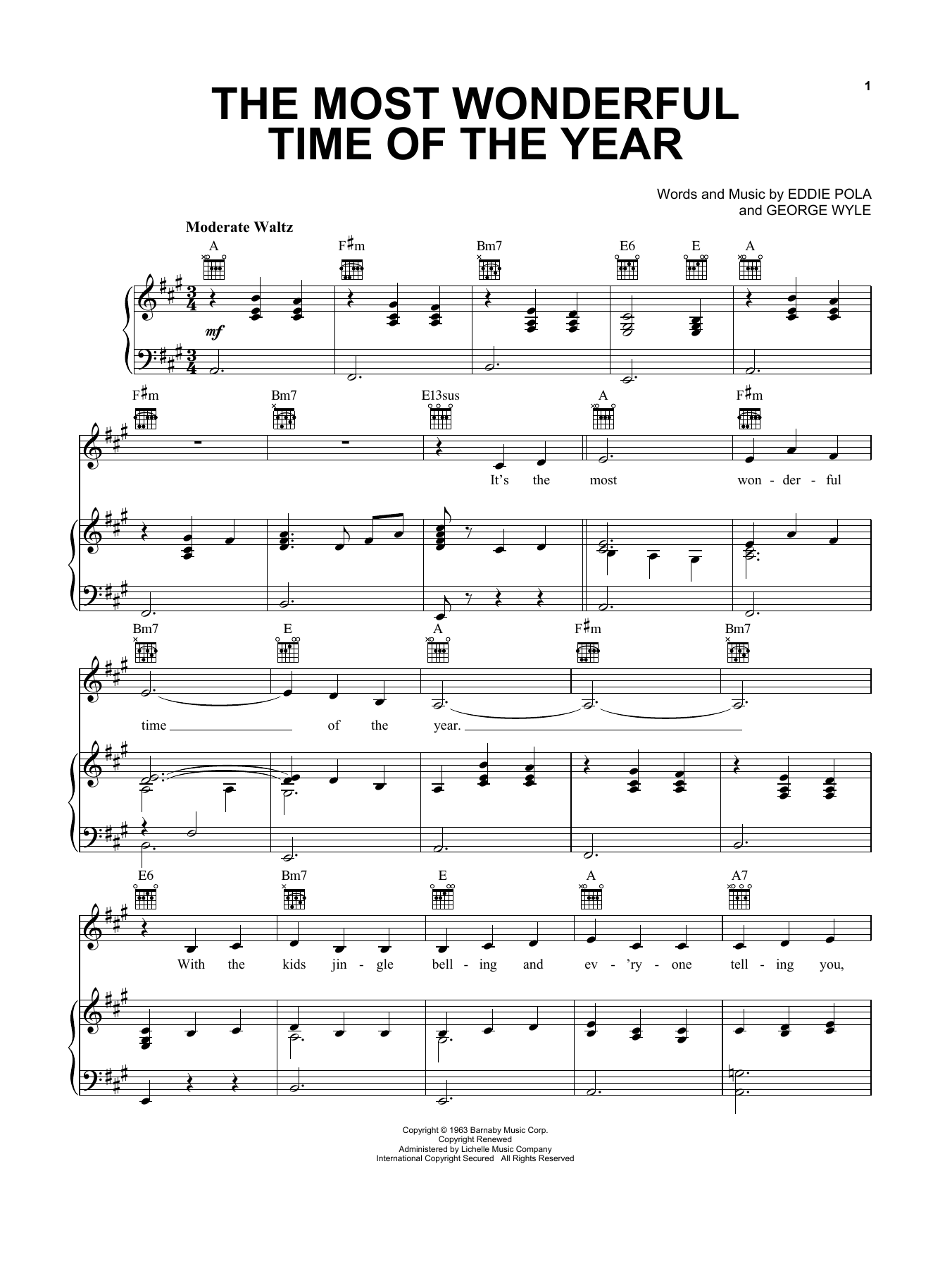 Pentatonix The Most Wonderful Time Of The Year sheet music notes and chords