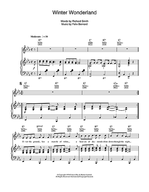 Perry Como Winter Wonderland sheet music notes and chords. Download Printable PDF.
