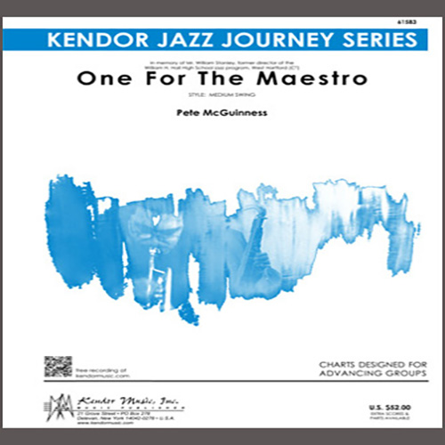 Easily Download Pete McGuinness Printable PDF piano music notes, guitar tabs for Jazz Ensemble. Transpose or transcribe this score in no time - Learn how to play song progression.