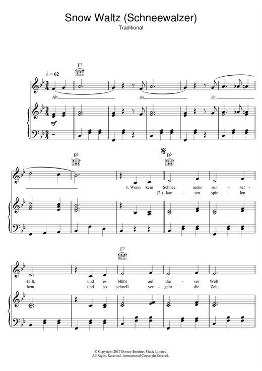 Peter Alexander Snow Waltz (Schneewalzer) sheet music notes and chords. Download Printable PDF.