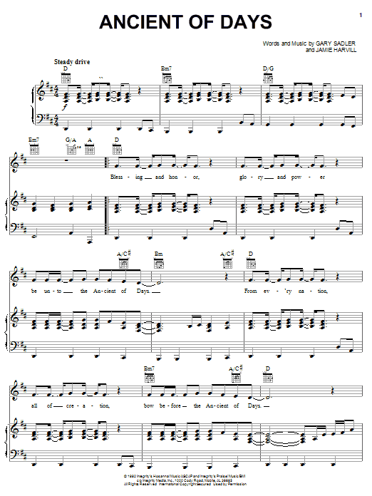 Petra Ancient Of Days sheet music notes and chords