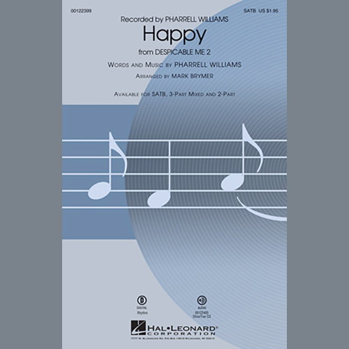 Easily Download Pharrell Williams Printable PDF piano music notes, guitar tabs for Choir Instrumental Pak. Transpose or transcribe this score in no time - Learn how to play song progression.