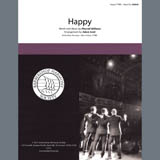 Download Pharrell Williams 'Happy (from Despicable Me 2) (arr. Adam Scott)' Printable PDF 13-page score for Barbershop / arranged SATB Choir SKU: 432794.