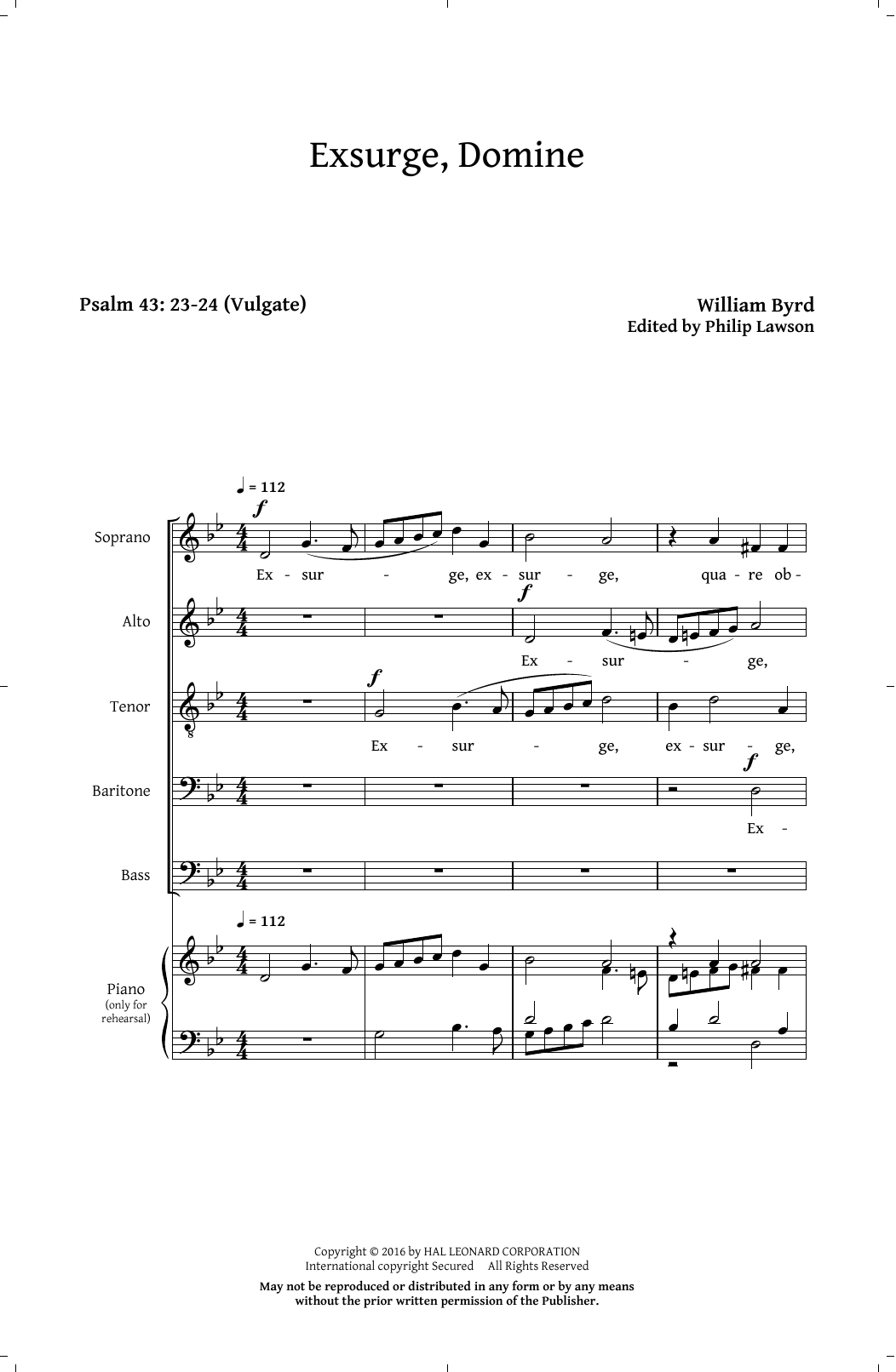 Philip Lawson Exsurge, Domine sheet music notes and chords. Download Printable PDF.