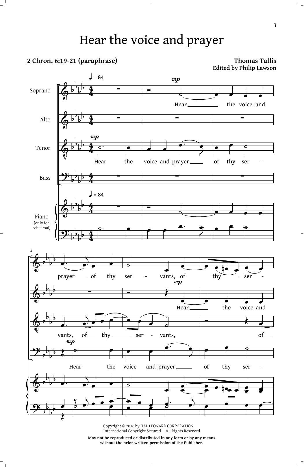 Philip Lawson Prayers And Partsongs sheet music notes and chords. Download Printable PDF.