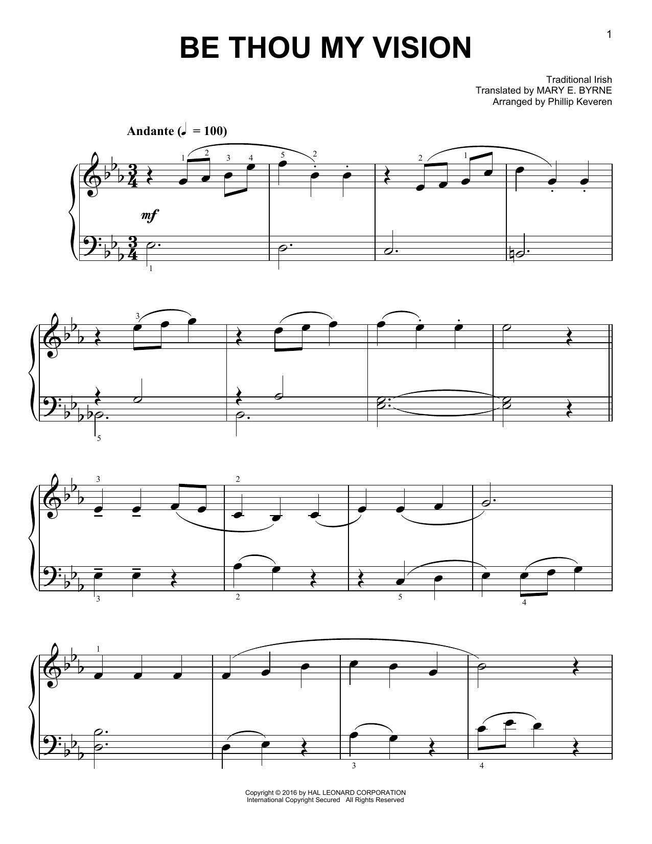Phillip Keveren Be Thou My Vision sheet music notes and chords. Download Printable PDF.