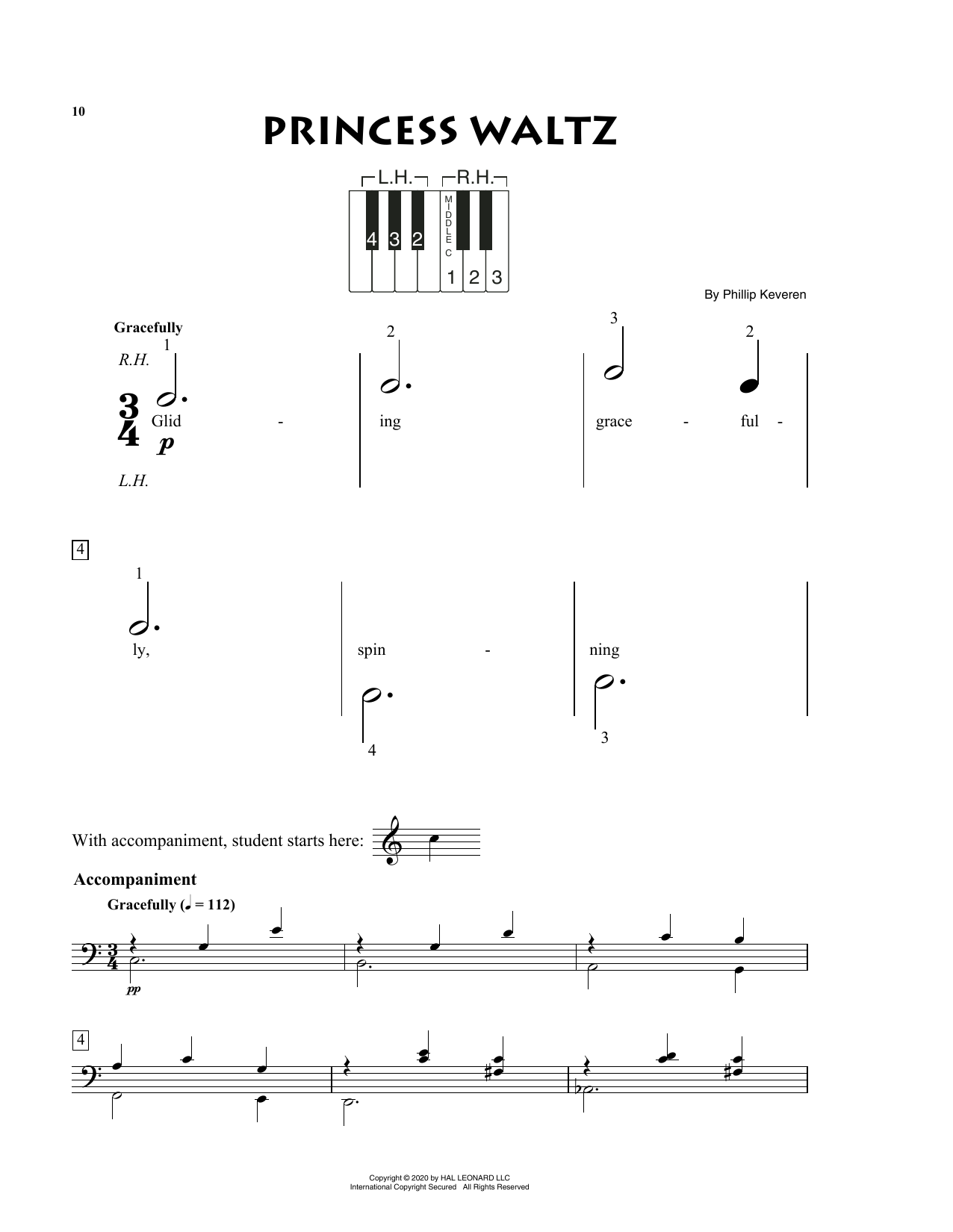 Phillip Keveren Princess Waltz sheet music notes and chords. Download Printable PDF.