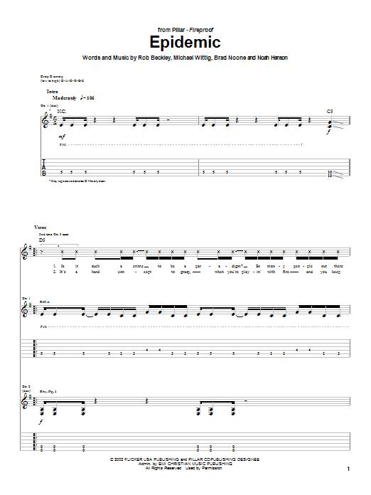 Pillar Epidemic sheet music notes and chords. Download Printable PDF.