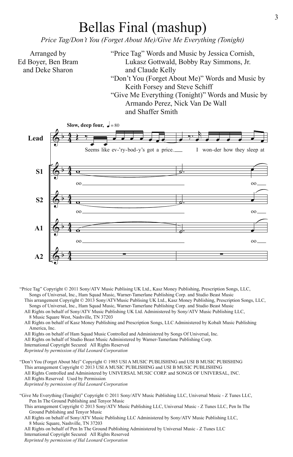 Pitch Perfect (Movie) Bellas Finals (Mashup) (from Pitch Perfect)(arr. Deke Sharon) sheet music notes and chords. Download Printable PDF.