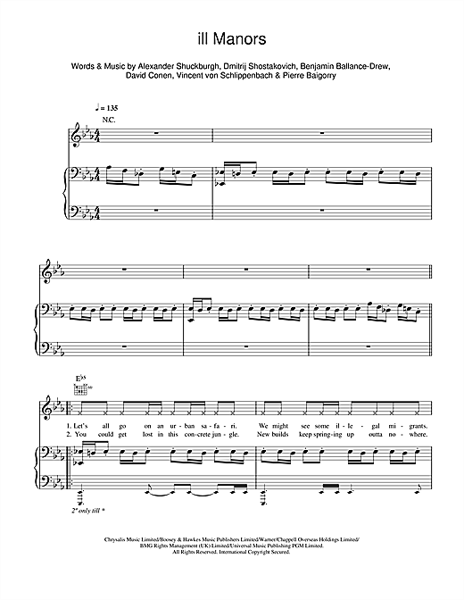 Plan B ill Manors sheet music notes and chords