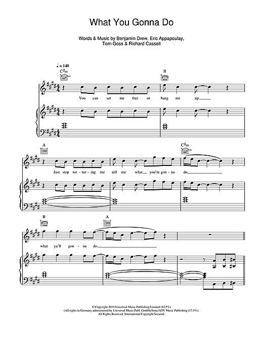 Plan B What You Gonna Do sheet music notes and chords. Download Printable PDF.