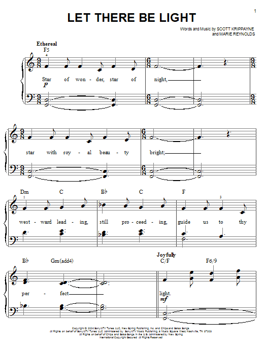 Point Of Grace Let There Be Light sheet music notes and chords. Download Printable PDF.