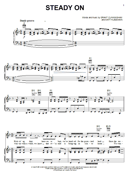 Point Of Grace Steady On sheet music notes and chords