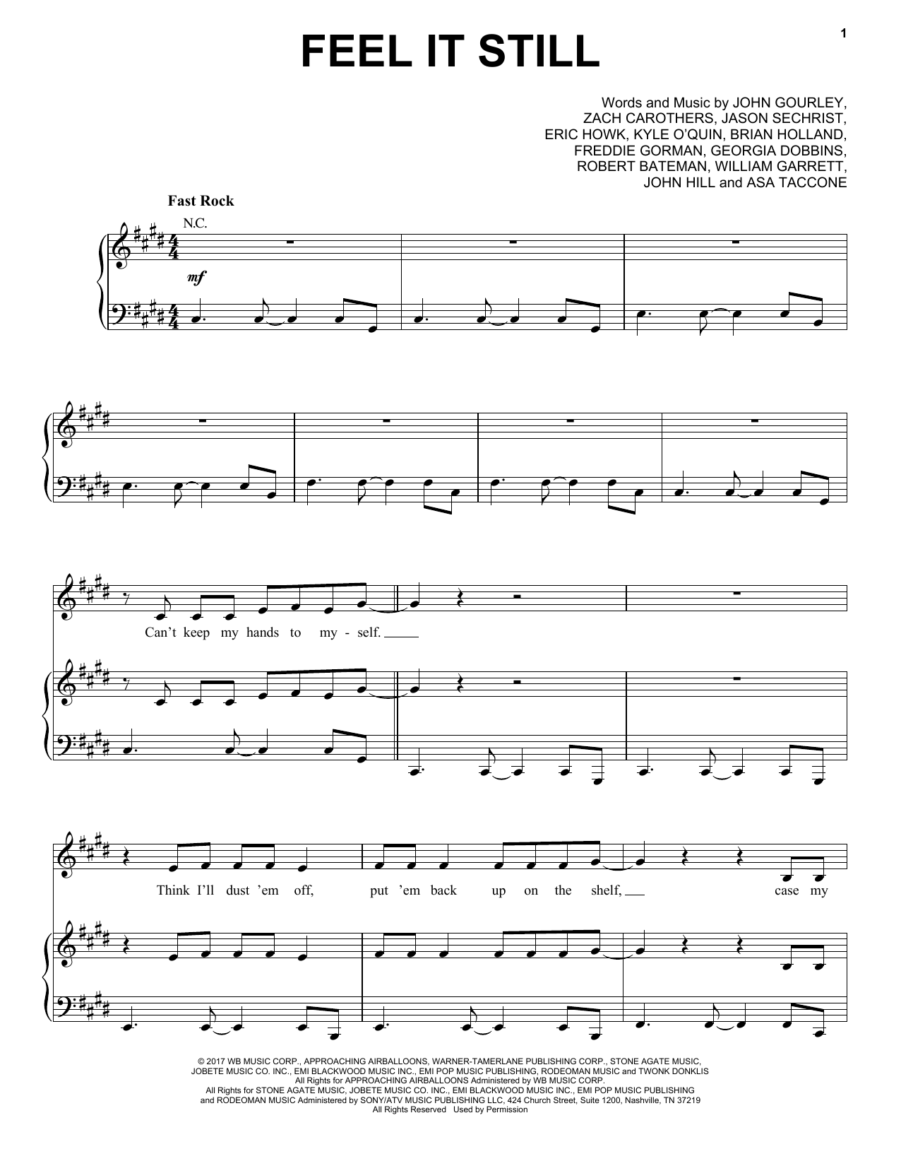 Portugal. The Man Feel It Still sheet music notes and chords. Download Printable PDF.